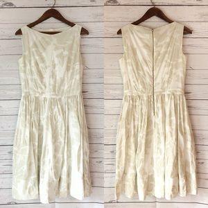Hugo Boss Gima Ivory White Textured Dress
